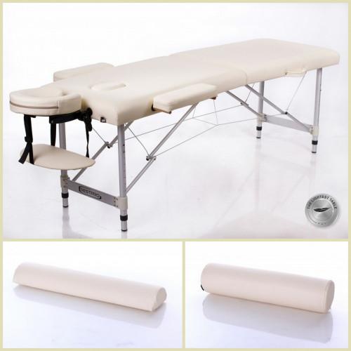RESTPRO® ALU 2 S Cream Set massaažilaud + massaažirullid (komplekt)