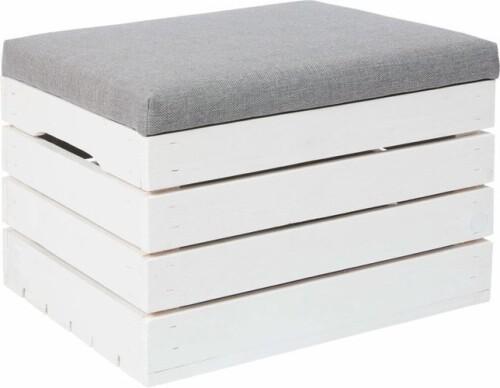 Puidust kast asjade hoidmiseks istmepadjaga, 50x40x35 cm