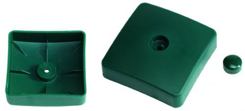 Plastikust kaitsekaas kandilise prussi jaoks, 100x100 mm, roheline