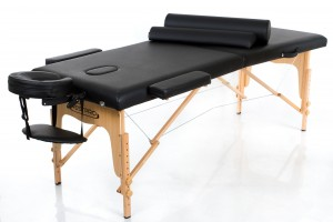 RESTPRO® Classic-2 Black Massage Table - Massage Bolsters