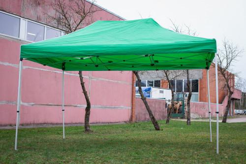 Pop Up Kokkupandav varikatus 3x4.5 m, seinteta, roheline, X-seeria, alumiinium (telk, paviljon, varikatus)