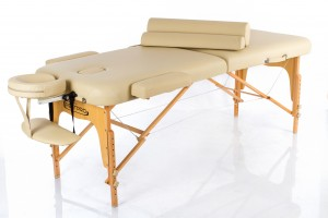 RESTPRO® Memory 2 Beige Portable Massage Table + Massage Bolsters