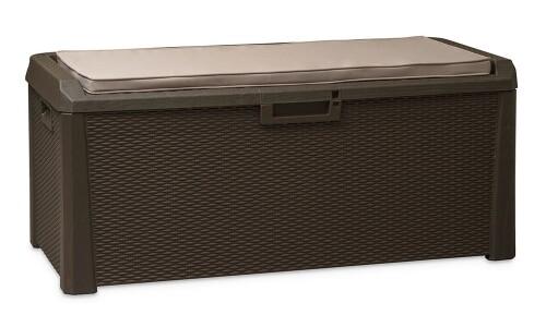 Punutud kast asjade hoidmiseks + istumispadi, 148x72x64 cm, Toomax (Itaalia)