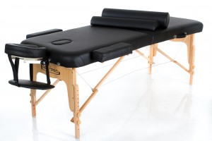 RESTPRO® VIP 2 BLACK Massage Table + Massage Bolsters