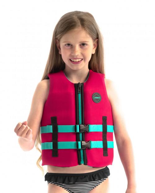 Jobe Neoprene Life Vest Kids Hot Pink