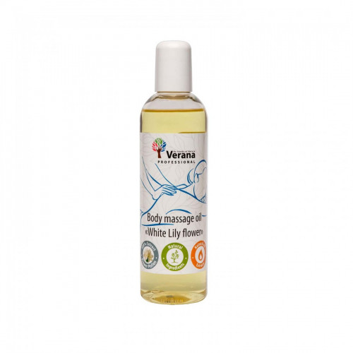 Body massage oil Verana Professional, White lilly flower 250ml