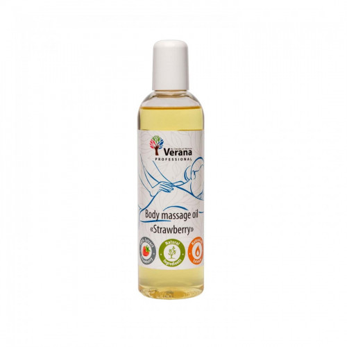 Body massage oil Verana Professional, Strawberry 250m