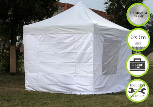 Kokkupandav N-seeria tent seintega 3x3 m  - alumiiniumkarkass 50x50x1.8 mm
