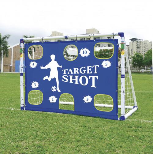 Jalgpallivärav väravaga JC-7180T, 183x130x96 cm