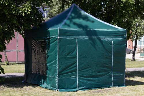 Tendi seinad 3 x 3 m (4 tk, roheline värv, kanga tihedus 160 g/m2)