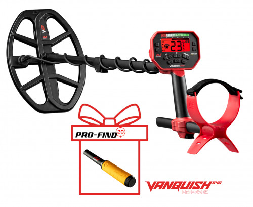 Metal detector Minelab Vanquish 540 Pro-Pack + PRO-FIND 20 PinPointer