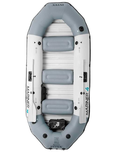 Täispuhutav paat 4-kohaline Intex 68376 MARINER 4 Boat Set, kõva põrand (328x145x48)