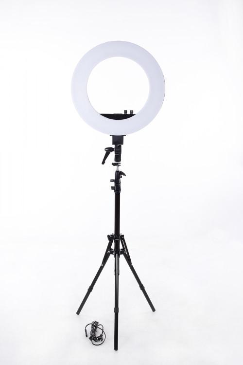 LED-rõngaslamp pildistamise ja filmimise jaoks Ø46 cm, 50W (9601LED-18)