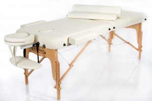 RESTPRO® VIP 3 Cream Massage Table + Massage Bolsters