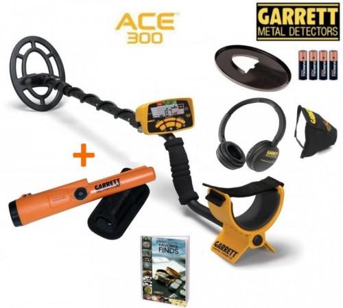 Metal detector GARRETT ACE 300i + Garrett Pro-Pointer AT + GIFTS
