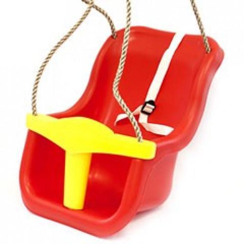Laste kiik piirikutega KBT Luxe, puna-kollane