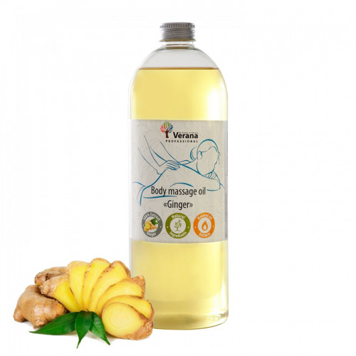 Body massage oil Verana Professional, Ginger 1 liter