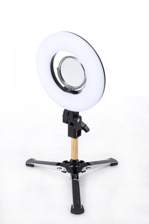 LED-rõngaslamp pildistamise ja filmimise jaoks Ø20 cm, 24W (9601LED-8)