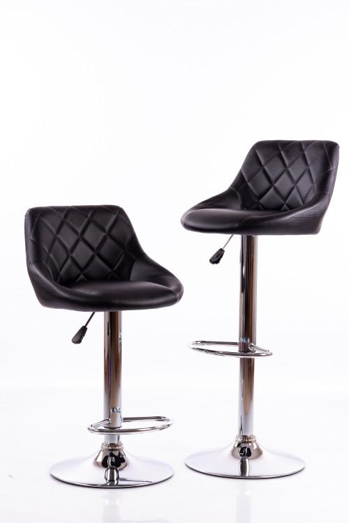 Bar chairs B12 black 2 pcs.
