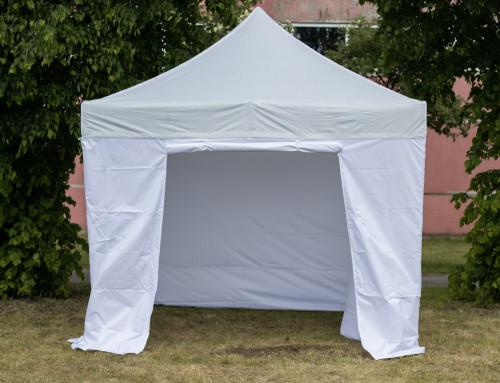 Pop Up mobiilne kokkupandav telk X-seeria tent seintega 3x3 m  - alumiiniumkarkass 40x40x1.0 mm